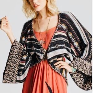 Free People Boho Nopal Stripe Sweater Size XS